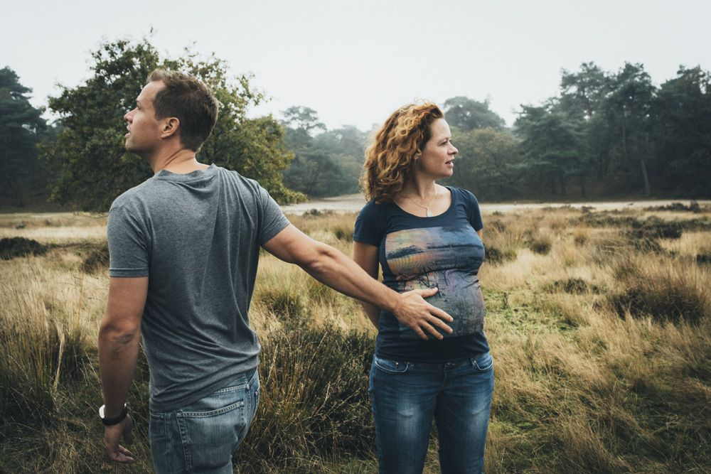 zwangerschapsfotografie op locatie Loonse en Drunense Duinen