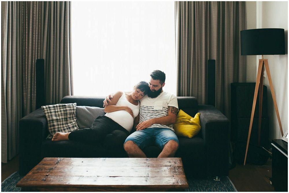 Fotoshoot zwangerschap thuis Den Bosch