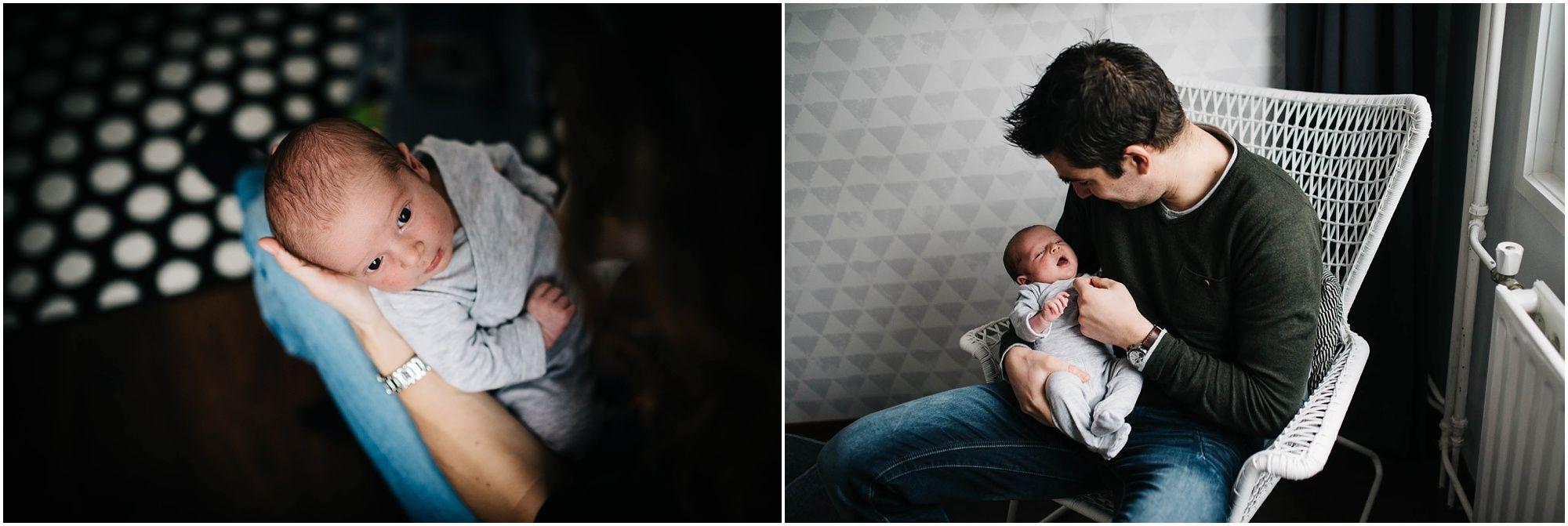 Lifestyle newbornfotoshoot Den Bosch ongedwongen newbornfotografie
