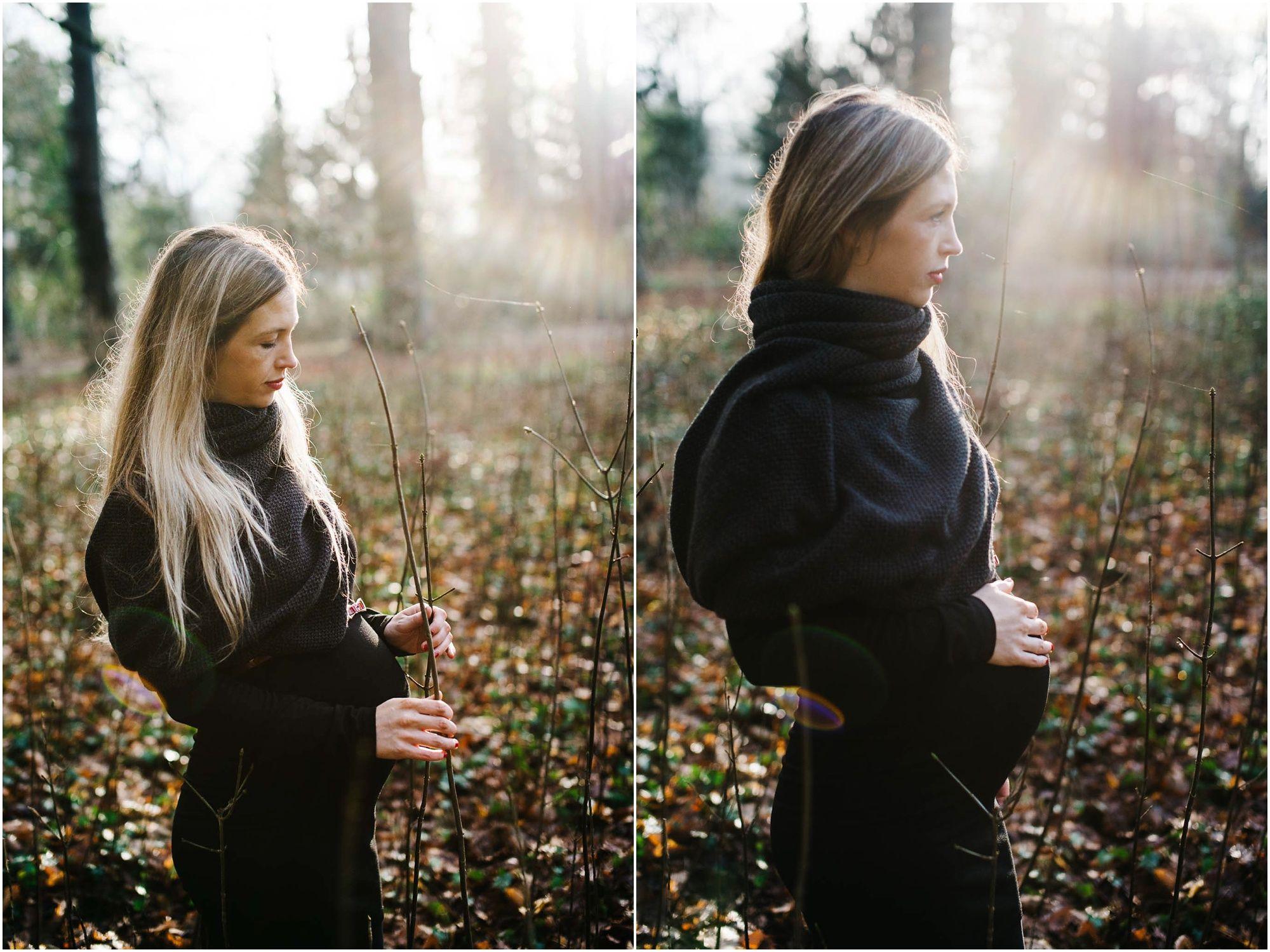 stoere zwangerschapsfotografie Den Bosch fotograaf zwangerschap fotoshoot buiten