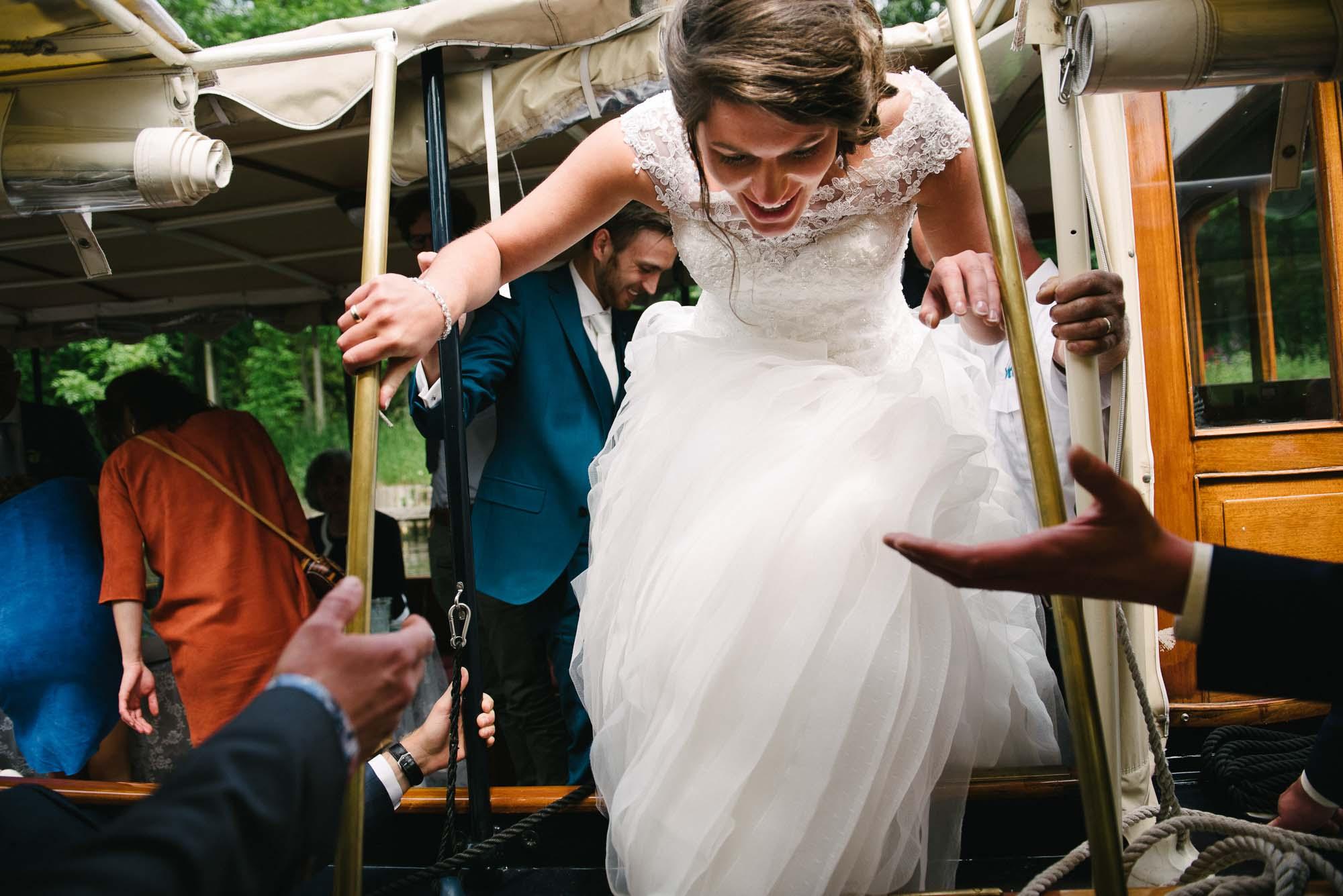 bruidsfotograaf utrecht journalistieke stijl boottocht vecht