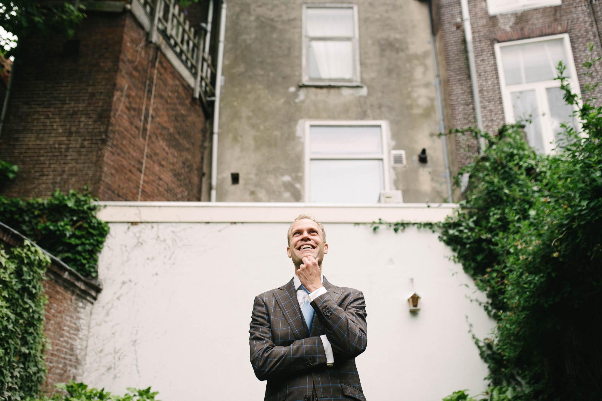 journalistieke bruidsfotografie bruidsfotograaf Leiden first look