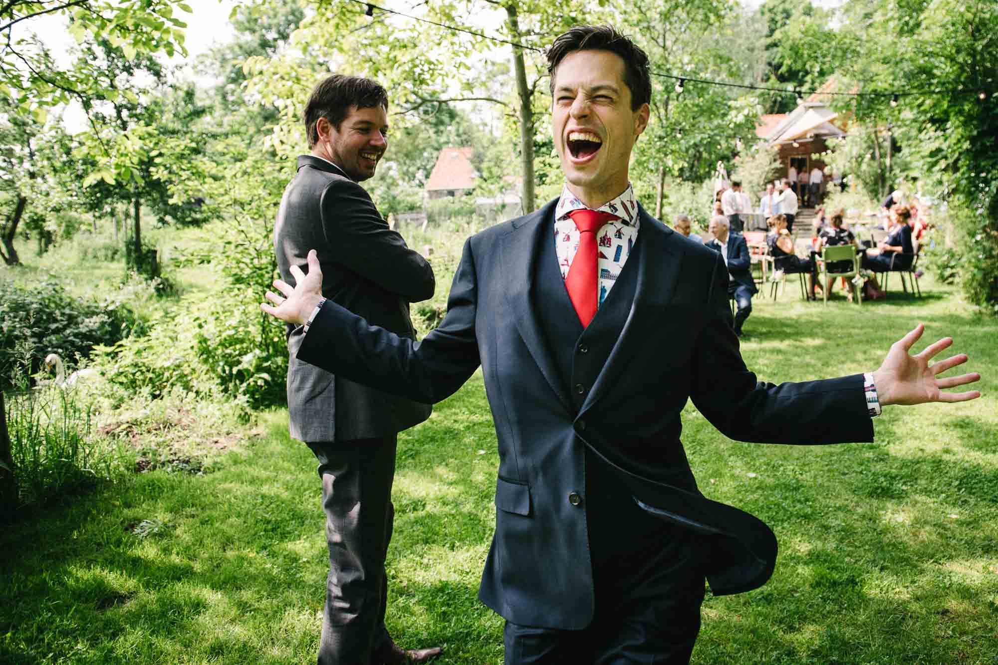 grappige bruidsfoto