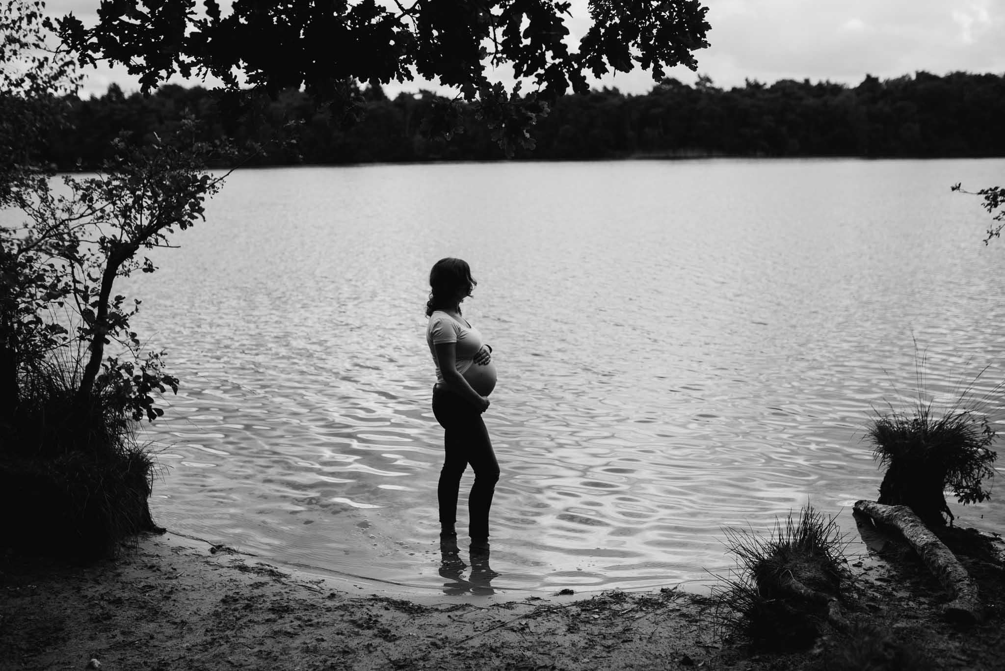 stoere originele zwangerschapsfotografie