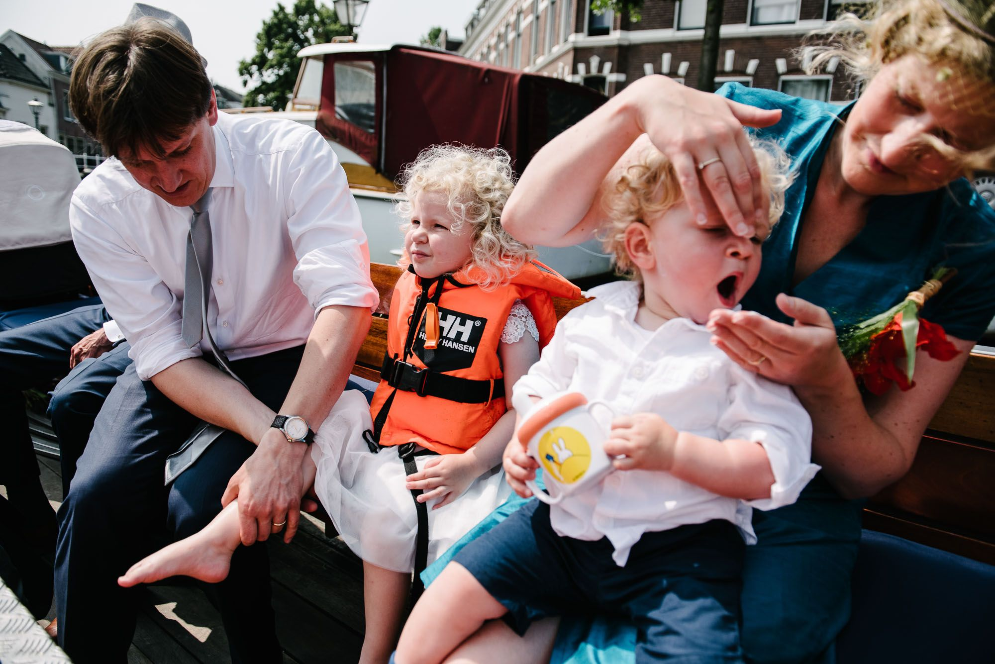 boottocht bruiloft Leiden met kinderen
