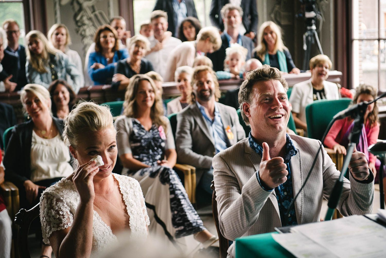bruidsreportage Amsterdam bruid huilt