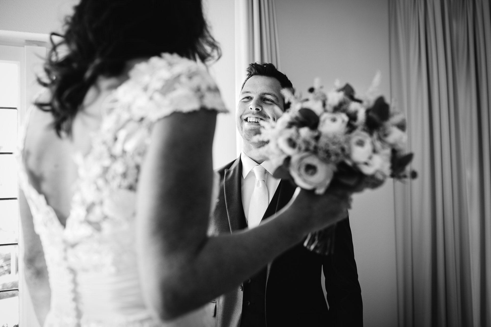 bruidsfotograaf journalistiek first look