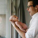 spontane foto's met baby
