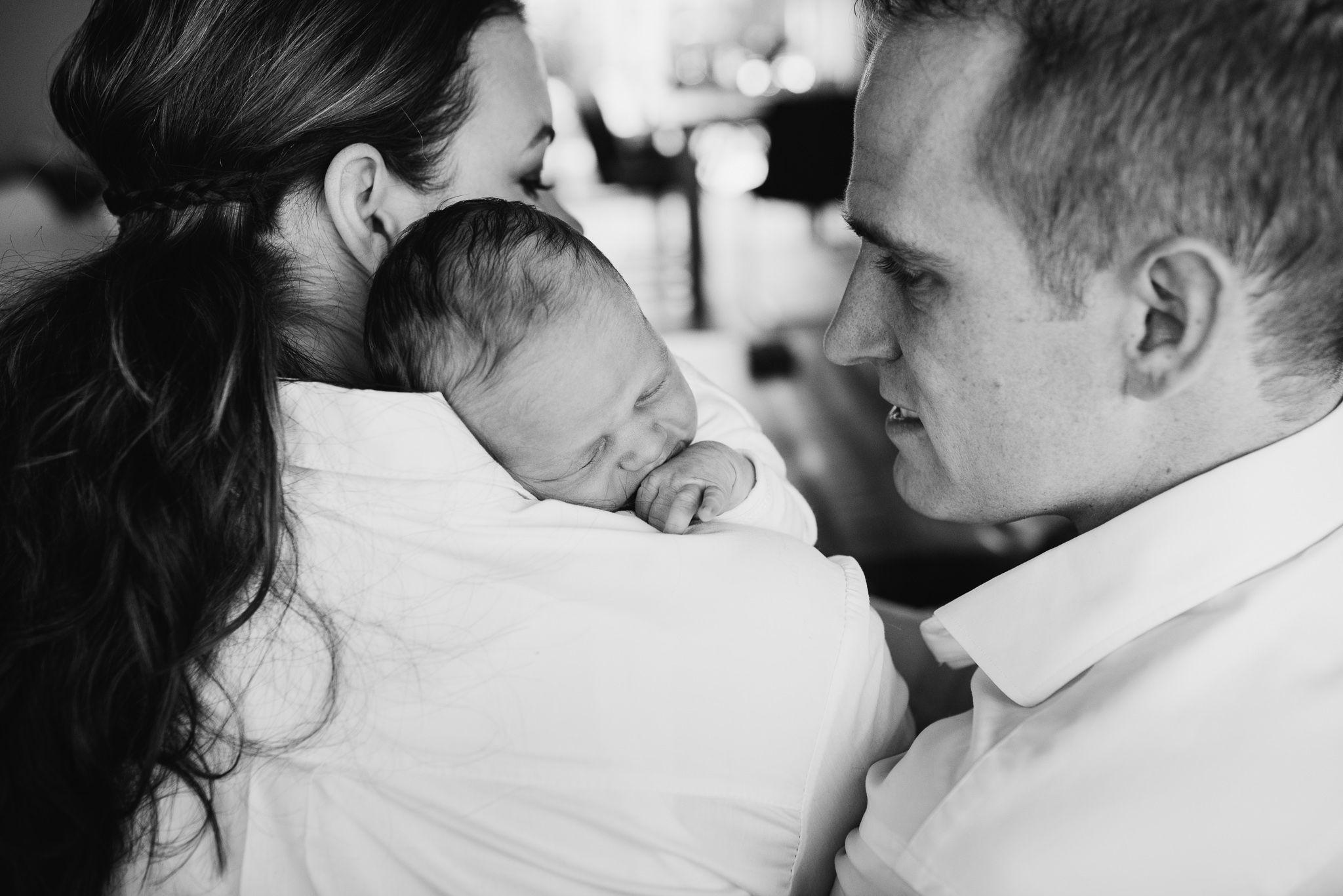 foto's pasgeboren baby thuis