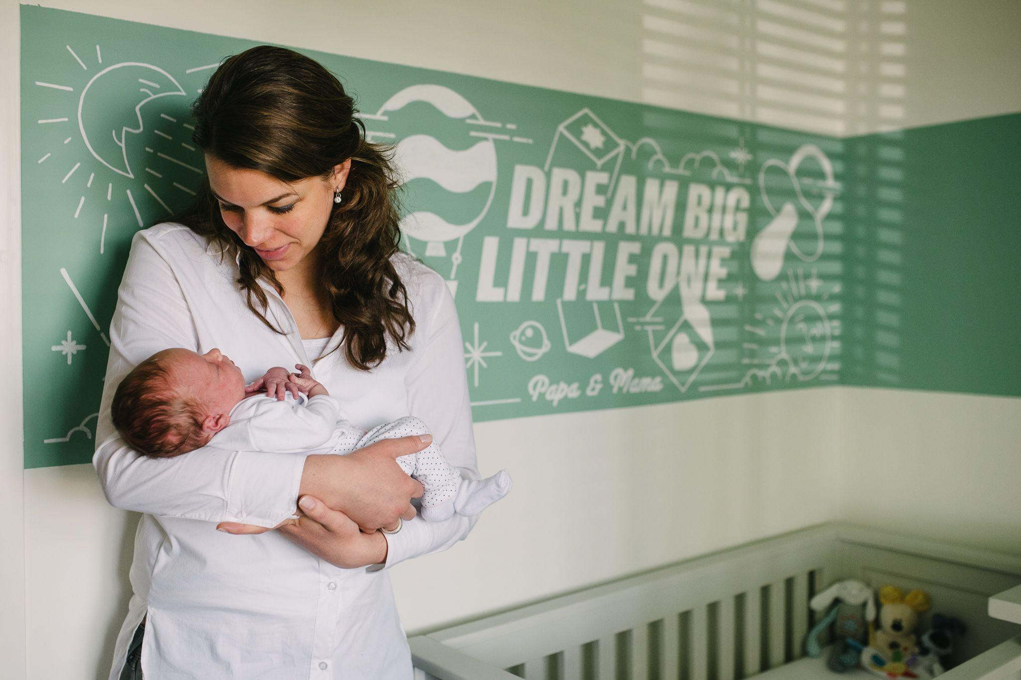 foto's pasgeboren baby thuis Den Bosch