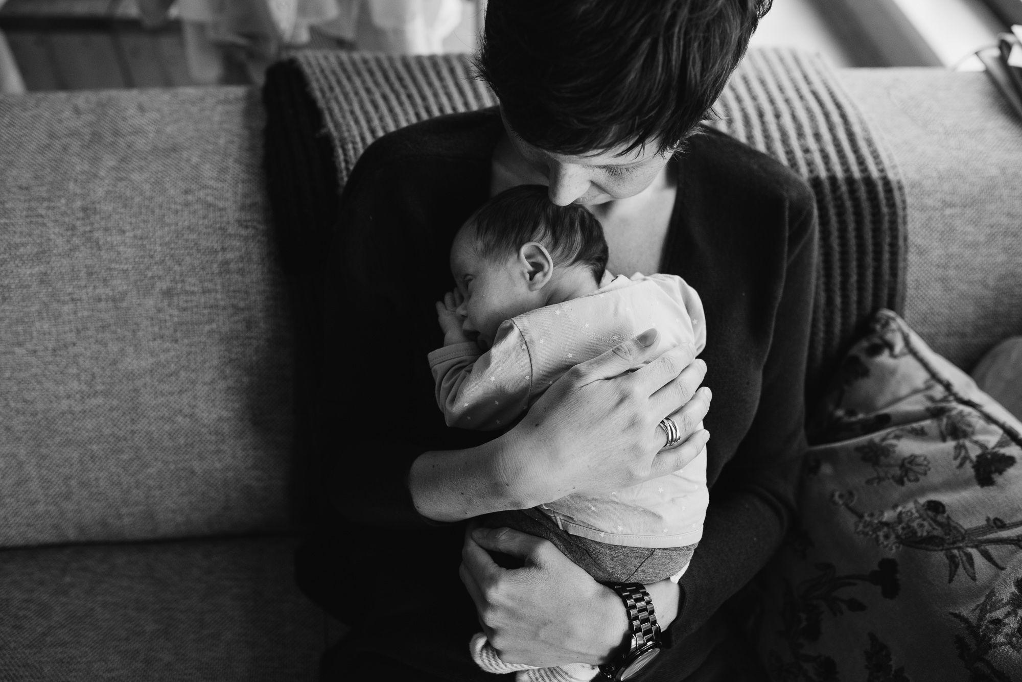 ongeposeerde foto's newborn baby