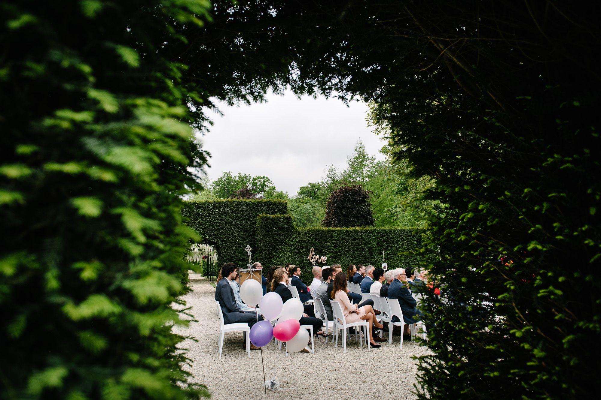 buiten trouwen Kasteel Maurick fotograaf
