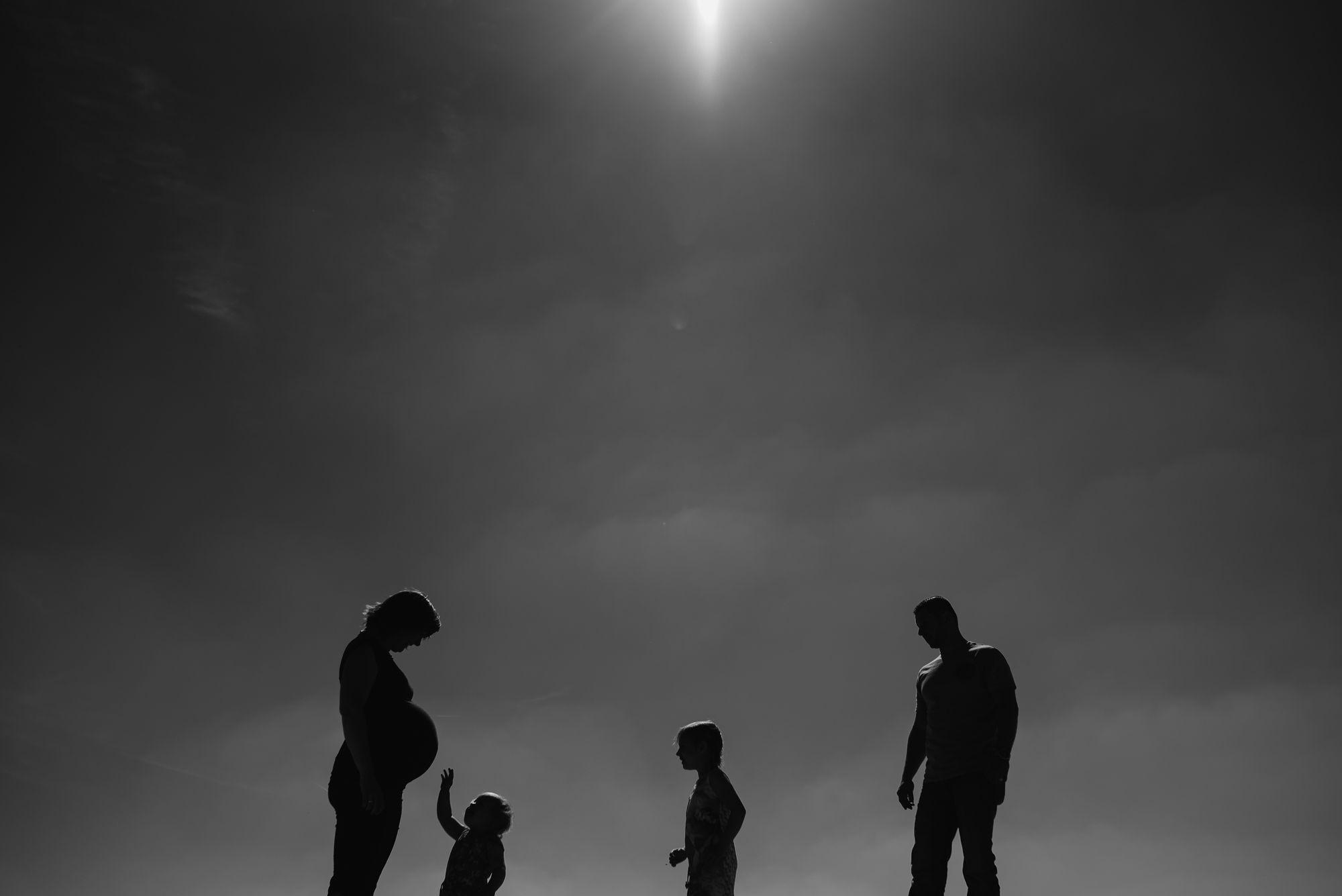 gezinsshoot foto's gezin zwangerschap stoer