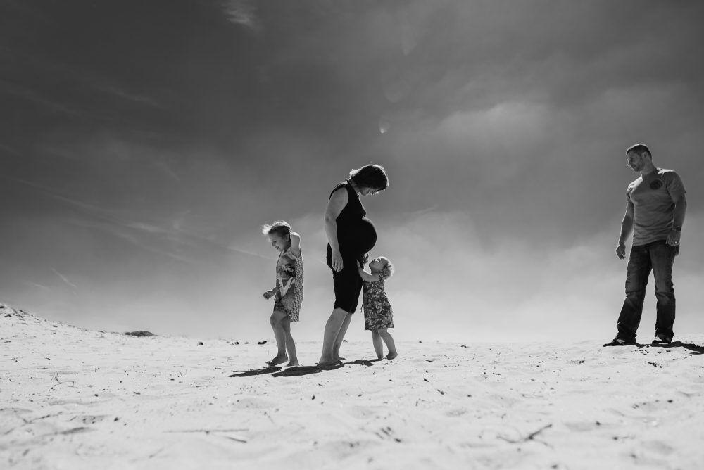 foto's gezin zwangerschap stoer