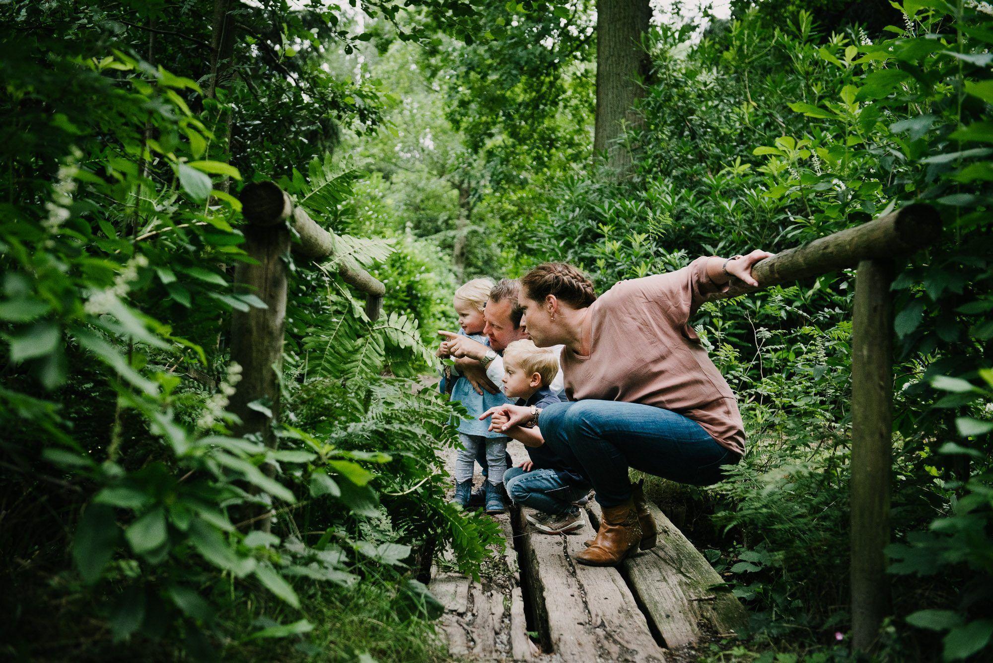 natuurlijke foto's gezin kinderen