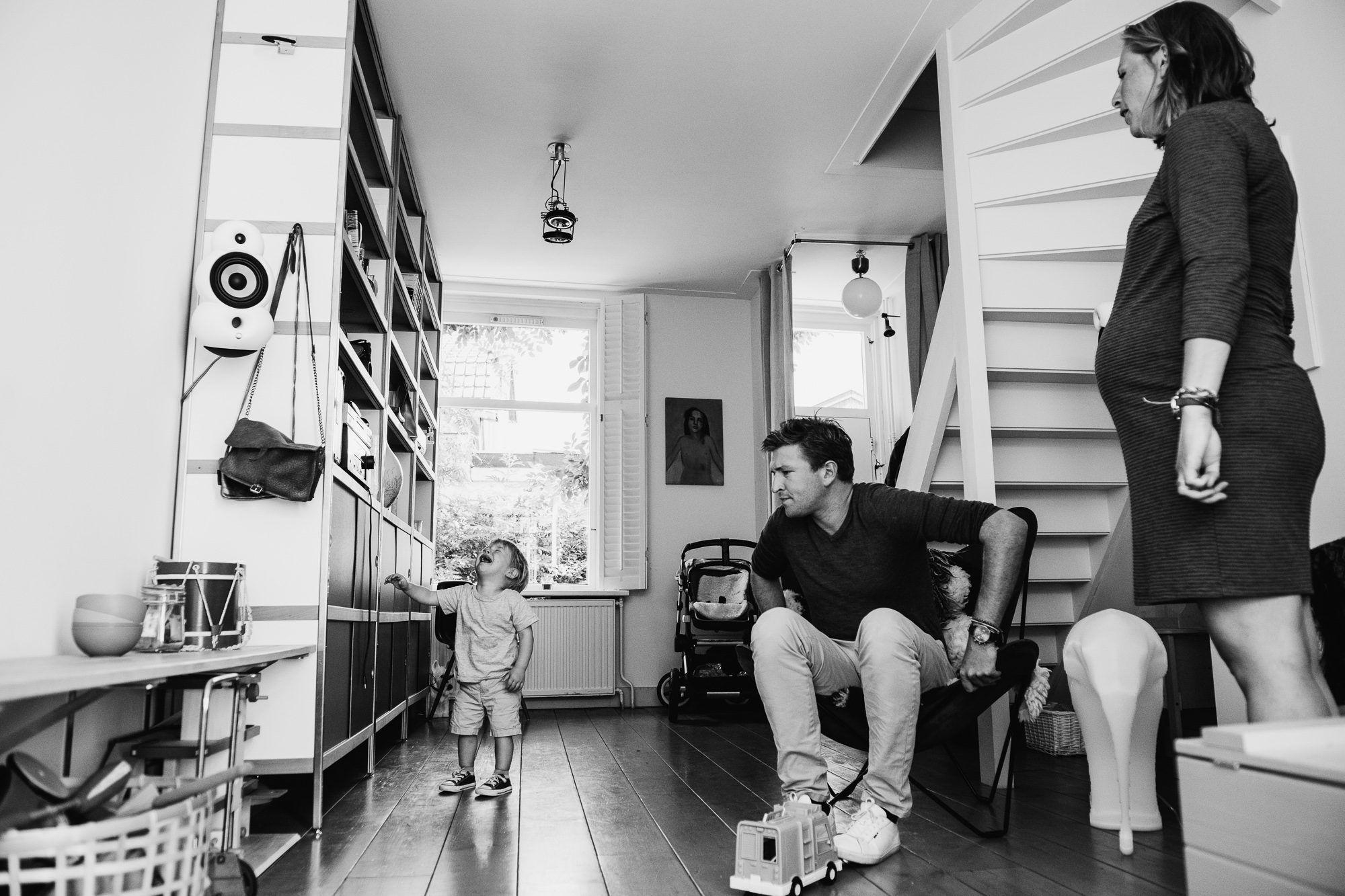 spontane foto's gezin Utrecht