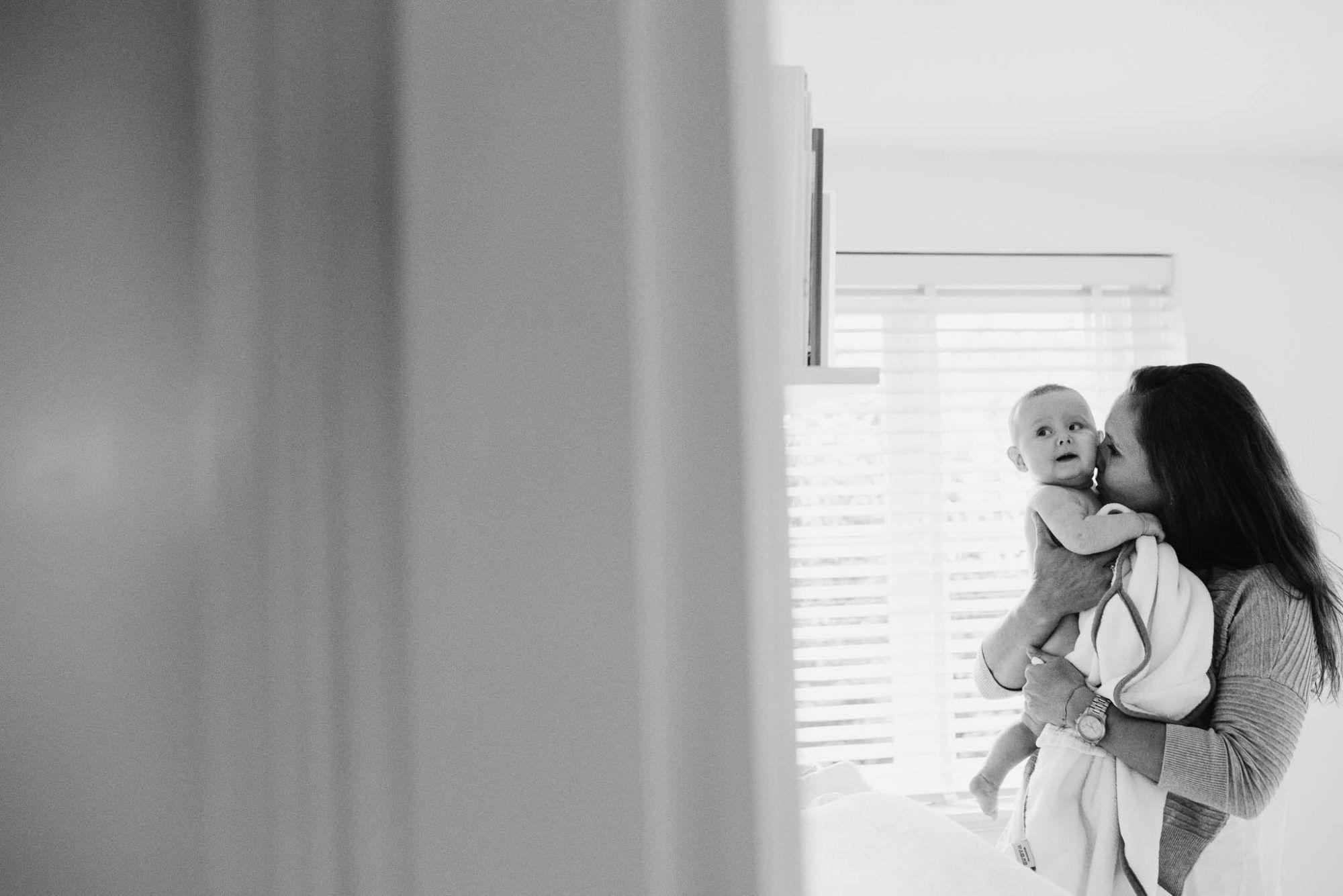 spontane foto's gezin thuis