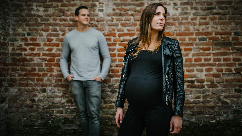 stoere zwangerschapsfoto's